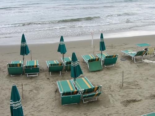 la spiaggia di diano marina, september 2005