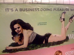 Mary-Louise (John Niedermeyer) Tags: moblog weeds ad advertisement mta greenpoint iphone marylouiseparker