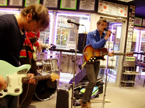 Women live! in-store performance at Music Trader on June 11 2008
