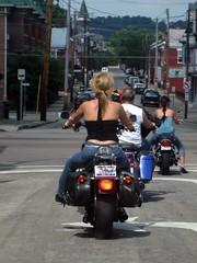 Biker chick in Covington (bousinka) Tags: ohio ky cincinnati chick oh biker covington
