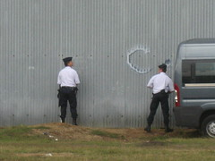 French Police Taking A Piss (wonker) Tags: holiday france cars sports de la europe police du racing mans le copper wee piss pissing gt urinate endurance 2008 circuit lmp aco whizz sarthe gendarmerie wizz heures lemans24 24heuresdumans circuitdelasarthe lemans2008