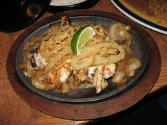 On The Border: Chicken chipotle fajitas (close up)