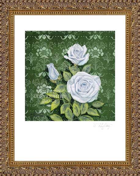 Innocence White Roses by Elizabeth Ruffing Framed Print
