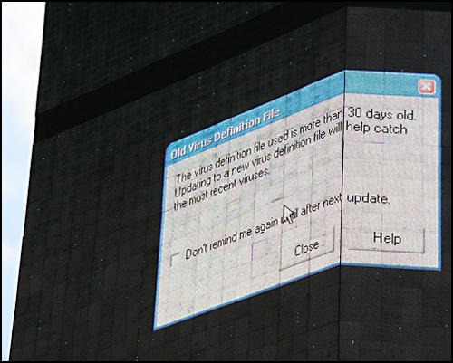 Times Square Billboard Error