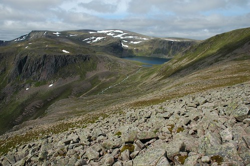 Ben Macdui beyond Loch Etchachan