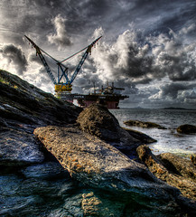 Saipem 7000 (Amundn) Tags: industry water monster norway rock clouds geotagged stavanger norge nikon industrial dramatic horns vessel oil huge devil hdr petroleum thialf d300 7000 saipem randaberg 5xp
