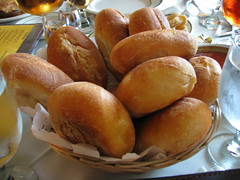 Spanish Tavern: Basket of rolls and butter (another view) (yummyinthetummyblog) Tags: newjersey spanish mountainside spanishtavern