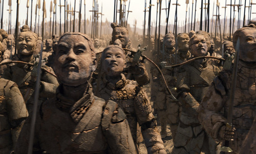 La Momia 3 tropas de arena de China