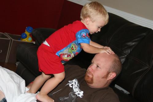 Climbing Up Daddy