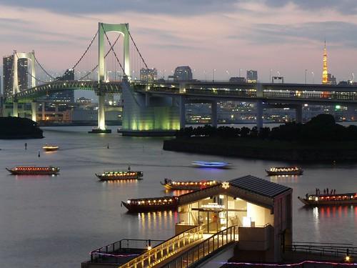 Luces en la Bahía de Tokyo (Tokyo, Japón) por ti.