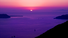 Purple Sunset (Fira, Santorini) (MarcelGermain) Tags: travel pink sunset sea vacation seascape nature water geotagged island greek mar nikon holidays mediterranean european purple aegean santorini greece caldera land volcanic thira postadesol grcia   d80 marcelgermain twtmesh230838
