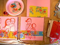 Future painting / Futuro quadro (Graça Paz lifestyle* atelier xt) Tags: pink flower ikea painting gift frame atelier shina