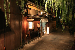 gion shop front ([DEADCITIES]) Tags: street japan night kyoto traditional    gion iso1600 timberbuilding japanesearchitecture deadcitiesnet