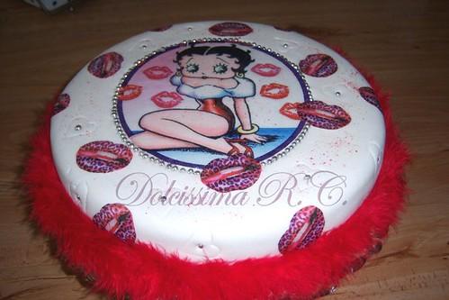 la torta betty boop per