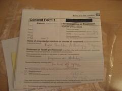 Consent form for Shoulder Arthroscopy (Carol B London) Tags: pain failure right relief drugs shoulder gp diagnosis unrepaired consent arthroscopy stabilisation shouldersurgery consentform