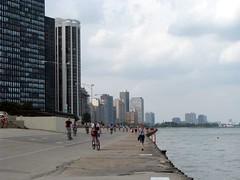 Along the lake (winninator) Tags: usa chicago water skyline illinois skyscrapers lakemichigan lakeshoredrive