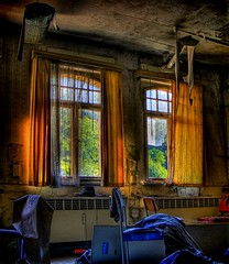 Windows (Batram) Tags: windows urban abandoned germany dark deutschland thringen room ruin thuringia haunted exploration hdr courtain lostplaces lostplace batram visiongroup veburbexthuringia vanishingextraordinarybuildings