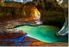 Emerald Pools in The Subway (Phijomo) Tags: light nature water subway utah nikon bravo scenic zion zionnationalpark emeraldpools thesubway d80 abigfave nikond80 leftfork goldenphotographer leftforkcreek