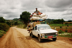 Road transport (Cybertiesto) Tags: burma myanmar heho kalaw inle lake 3daystrekking trekking train forest path pao tribe pawke village road transport van car flickrlovers freephotos