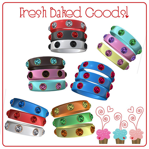 ~*Fresh Baked Goods*~ Sweet Shoppe Bangle Trio Sets (3 Metals)