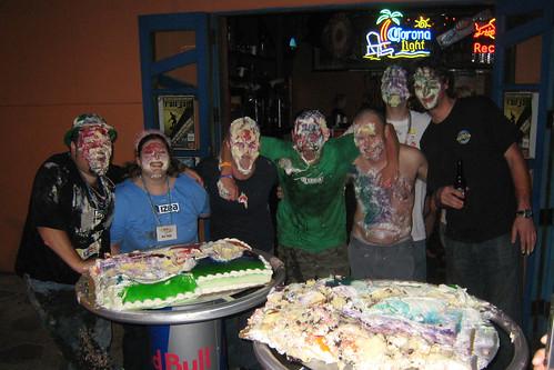 Izea's world famous Cake Plow after Izea Fest 2008