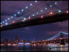 Two Bridges... New York City (Scott Hudson *) Tags: city usa canon t photography newjersey nikon flickr unitedstatesofamerica nj scene pg brooklynbridge pip eastriver sch soe lostsoul gothamcity googleimages thebigapple scotthudson gothem gothemcity blueribbonwinner newyorkcityskyline exploreflickr visitnewyork imagekind viewonblack newyorkcityview bighugelabs brooklynbridgenewyorkcity betterthangood theperfectphotographer thelightpainterssociety copyrighted2009allrightsreserved copyright2009shudson perfectioninpictures bingimages alwaysbetteronblack picturesofnewyorkcitry betterthangoodflickr scotthudsonflickr httpwwwfacebookcomscotthudsoninnjflickr