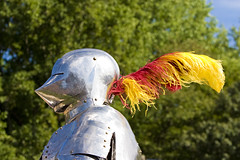 Knight (Walt Stoneburner) Tags: red art yellow outdoors photo image stock creative free commons suit armor license knight walt feature wls suitofarmor stoneburner waltstoneburner