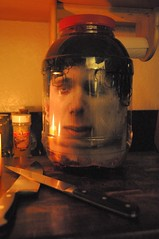 There is no substitute for good knives! (cosmosjon) Tags: halloween face scary head creepy spooky gross sick prop severedhead frightening severed gory specialeffect decapitated ooky decapitate halloweendecoration headinajar fakehead halloweenprop facetexturemap