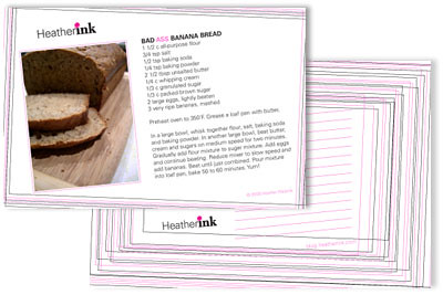 Heather Ink recipe cards