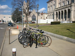 Bike rack on Court Square