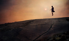 yosemite fires (colerise) Tags: trees sunset sky woman brown sun black mountains texture feet nature rock clouds dark fire person fly flying aftermath rocks driving wind body earth perspective dramatic floating surface dirt violence float cinematography treeline wildfire floatingpeople