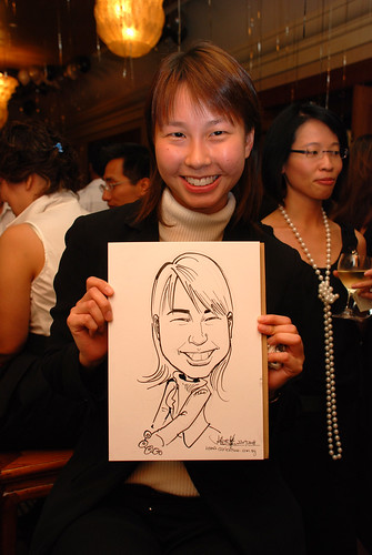 Caricature live sketching for Standard Chartered Bank Legal Learning Event 7