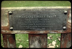 mary margaret twatt (annette62) Tags: plaque bench memorial edinburgh princesstreetgardens margaretmarytwatt