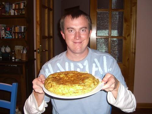 Erik makes a Tortilla de Patatas