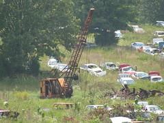 Salvage Crane (dbro1206) Tags: old abandoned junk crane rusty roadside booms oldiron