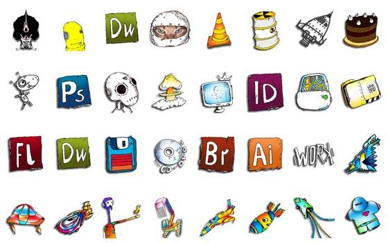 dibujos de iconos