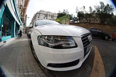 Audi (Berts @idar) Tags: faro fisheye zaragoza coche audi peleng ojodepez espaa peleng8mmfisheye canoneos400ddigital ojosajenos ojosajenoscom