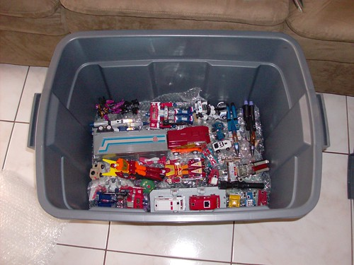 Empacando figuras para la Ticobot