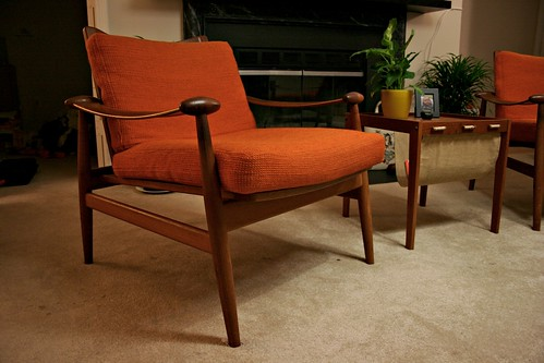 Finn Juhl: Sling Arm Lounge Chairs by sewtrashy.