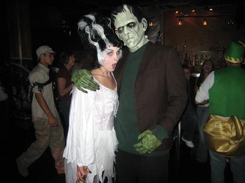 Sexy bride of frankenstein costume