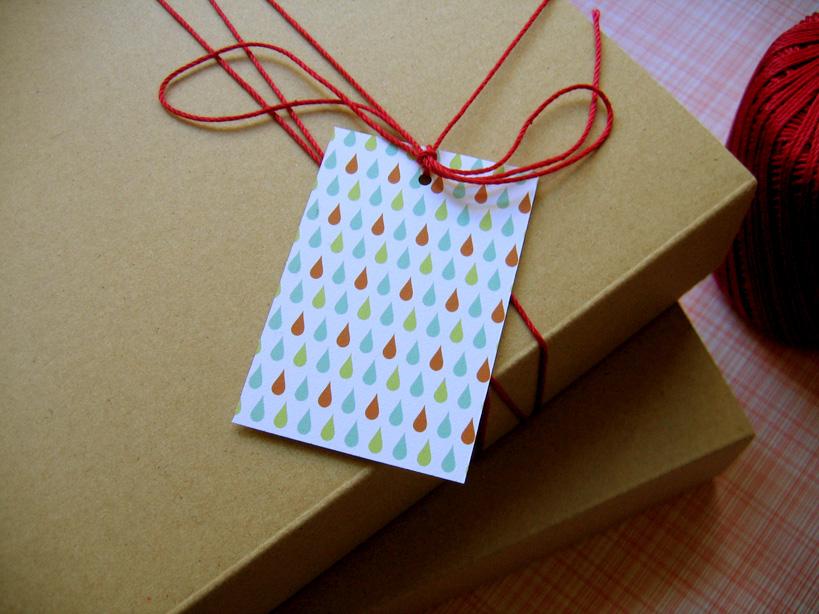 drops gift tags