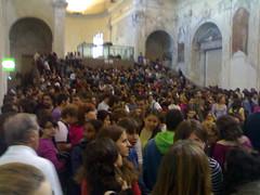Assemblea di Ateneo a Genova, Aula polivalente di Architettura strapiena