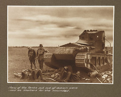 Many of the tanks put out of action were used as shelters for the wounded (National Media Museum) Tags: tank wounded wwi worldwari worldwarone shelter greatwar heer firstworldwar armisticeday tanque gasmasks germanarmy thegreatwar stahlhelm frankhurley 15thbrigade jamesfrancishurley soldierslives imperialgermanarmy armoredwarfare picardiefrance britishwhippettanks august91918 whippettank armouredwarfare reichsheer kaiserlichdeutschesheer