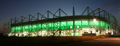 Nordpark Stadion Borussia Mnchengladbach (mr.schnabel) Tags: panorama canon germany football fussball nacht stadium mg arena grn stadion mnchengladbach langzeitbelichtung vfl borussia gladbach nordpark borussiamnchengladbach tribne nordkurve