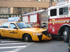 Taxi accident with FDNY Fire Truck  OOPS (buff_wannabe) Tags: nyc car accident taxi nypd oops fdny