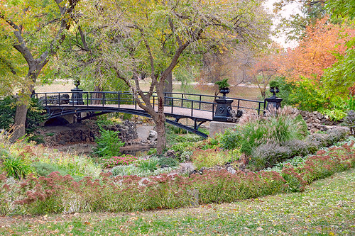 Lafayette Square Neighborhood, in Saint Louis, Missouri, USA - Lafayette Park - bridge 1