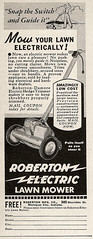 (hunter..) Tags: electric ad mow electricity mower coupon vintagead electricmower