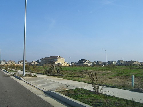Abandoned housing development, Manteca CA
