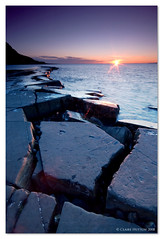 (Claire Hutton) Tags: uk winter sunset sea england sun seascape cold southwest water coast rocks south cliffs dorset coastline lowtide fossils kimmeridge ledges jurassiccoast