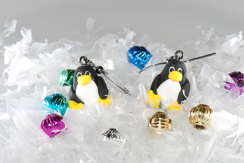 Tux Penguin Earrings